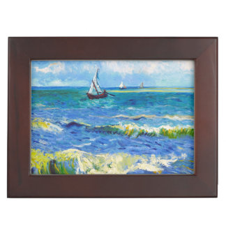 Seascape at Saintes-Maries Vincent Van Gogh Keepsake Box