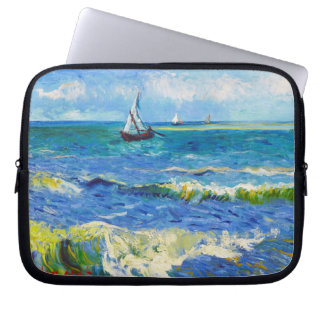 Seascape at Saintes-Maries Vincent Van Gogh Laptop Sleeve