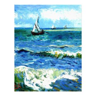 Seascape at Saintes-Maries, Vincent Van Gogh Letterhead