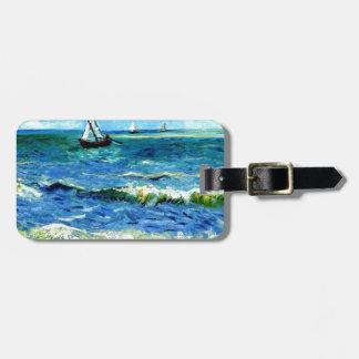 Seascape at Saintes-Maries, Vincent Van Gogh Luggage Tag