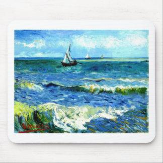 Seascape at Saintes-Maries, Vincent Van Gogh Mouse Pad