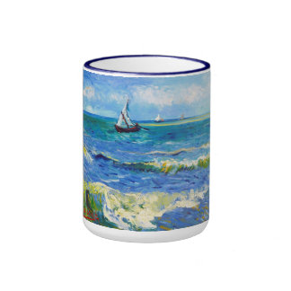 Seascape at Saintes-Maries Vincent Van Gogh Coffee Mug