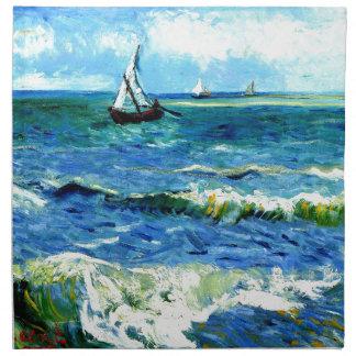 Seascape at Saintes-Maries, Vincent Van Gogh Napkin