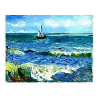 Seascape at Saintes-Maries, Vincent Van Gogh Postcard