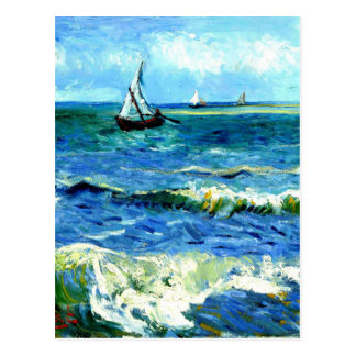Seascape at Saintes-Maries, Vincent Van Gogh Postcard