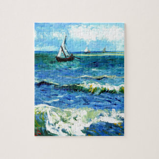 Seascape at Saintes-Maries, Vincent Van Gogh Puzzles
