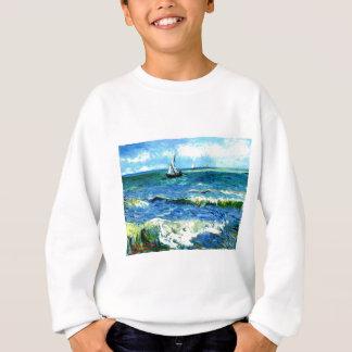 Seascape at Saintes-Maries, Vincent Van Gogh Sweatshirt