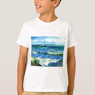Seascape at Saintes-Maries, Vincent Van Gogh T-Shirt