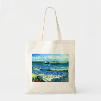 Seascape at Saintes-Maries, Vincent Van Gogh Tote Bag