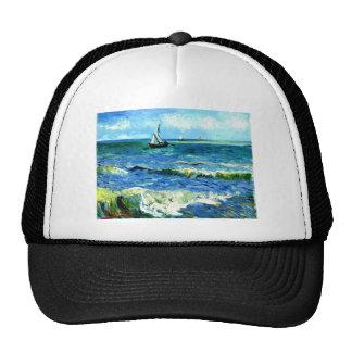 Seascape at Saintes-Maries, Vincent Van Gogh Trucker Hat