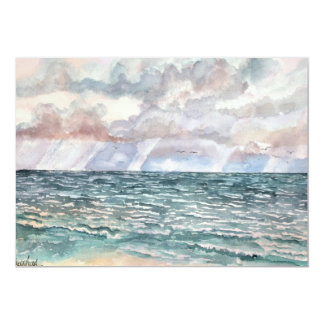 seascape beach paintings Florida art Card