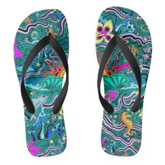 Seascape flip flops! flip flops