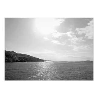 Seascape in the sun photo print