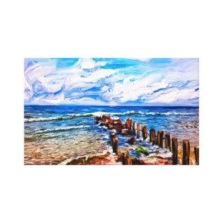 Seascape Jetty, Seascape Wall Art, Ocean Art, Canvas Print