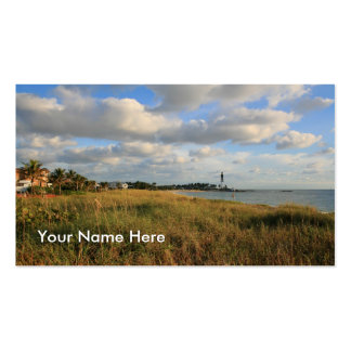 Seascape & Lighthouse Business Card Template