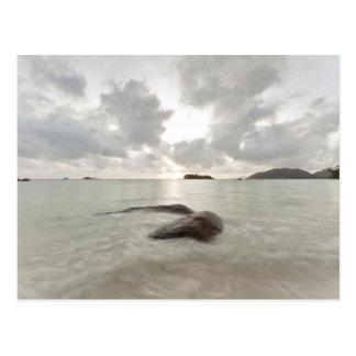 Seascape, Praslin Island, Seychelles Postcard