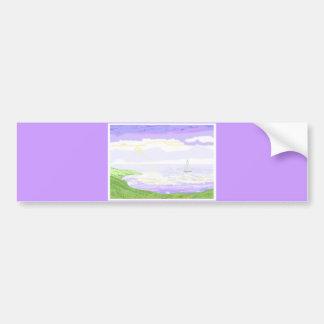 Seascape scene bumper sticker