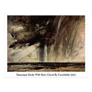 Seascape Study With Rain Cloud By Constable John Postcard
