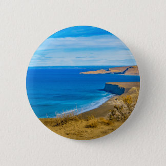 Seascape View from Punta del Marquez Viewpoint 2 Inch Round Button