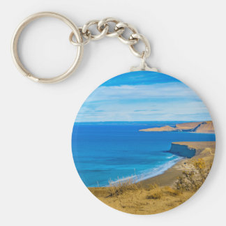 Seascape View from Punta del Marquez Viewpoint Keychain