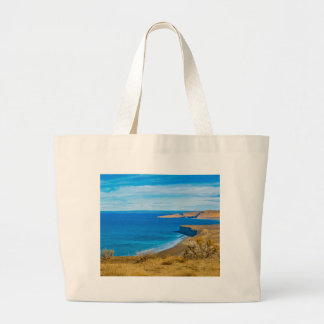 Seascape View from Punta del Marquez Viewpoint Large Tote Bag