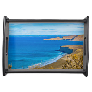 Seascape View from Punta del Marquez Viewpoint Serving Tray