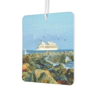 Seascape with Cruise Ship Car Air Freshener