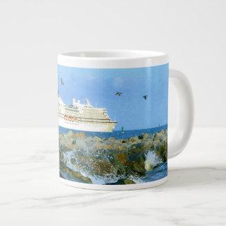 Seascape with Cruise Ship Large Coffee Mug