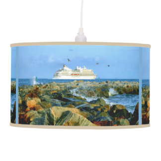 Seascape with Cruise Ship Pendant Lamp
