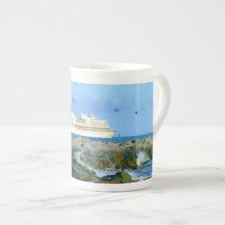 Seascape with Cruise Ship Tea Cup