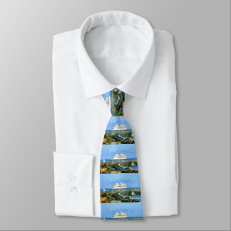 Seascape with Cruise Ship Tie