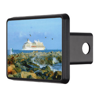 Seascape with Cruise Ship Trailer Hitch Cover