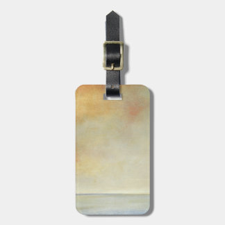 Seascape with Tranquil Orange Sunset Bag Tag