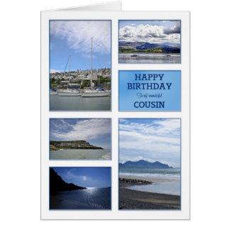 Seascapes birthday card for Cousin