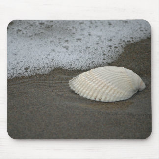 Seashell and Surf Mouse Pad