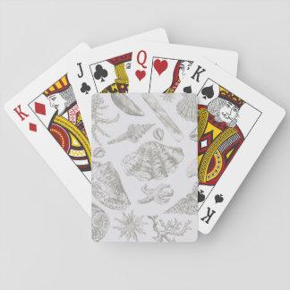 Seashell Art Pattern Vintage Print Shore Playing Cards