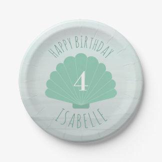 Seashell Beach Birthday Party Paper Plate