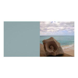 Seashell Beach Paradise Photo Greeting Card