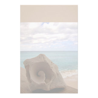 Seashell Beach Paradise Stationery