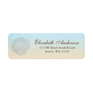 Seashell Beach Personalized Address Label