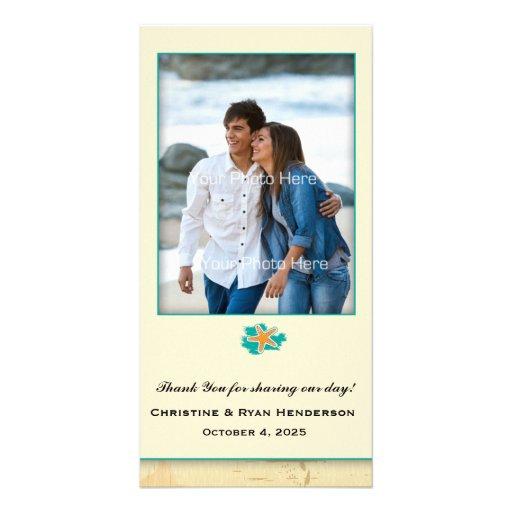 Seashell Beach Personalized Photo Card