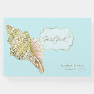 Seashell Beach Wedding Guest Book