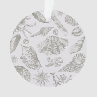 Seashell Chic Pattern Art Print Beach Vintage Ornament