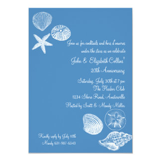 Seashell Collection Anniversary Party Invitation