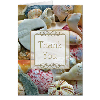 Seashell Custom Thank You Note Card