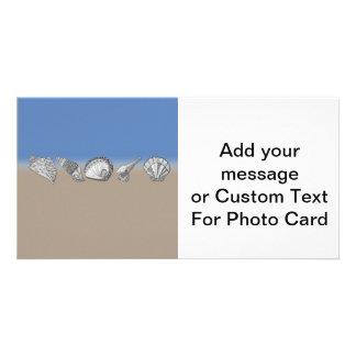 Seashell Drawing Art Photo Card