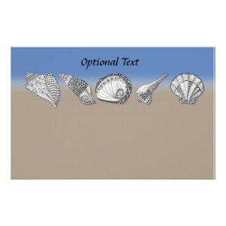 Seashell Drawing Art Stationery Design