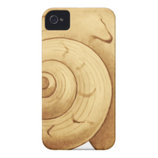 Seashell Drawing iPhone 4 Case