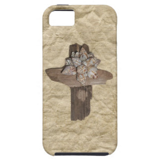 Seashell Driftwood Cross Christian Case For The iPhone 5