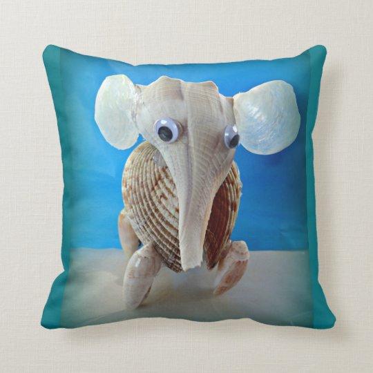 Seashell Elephant Craft Animal Sanibel Island FL Throw Pillow